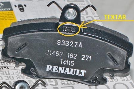 Тормозные колодки для автомобиля Renault Logan