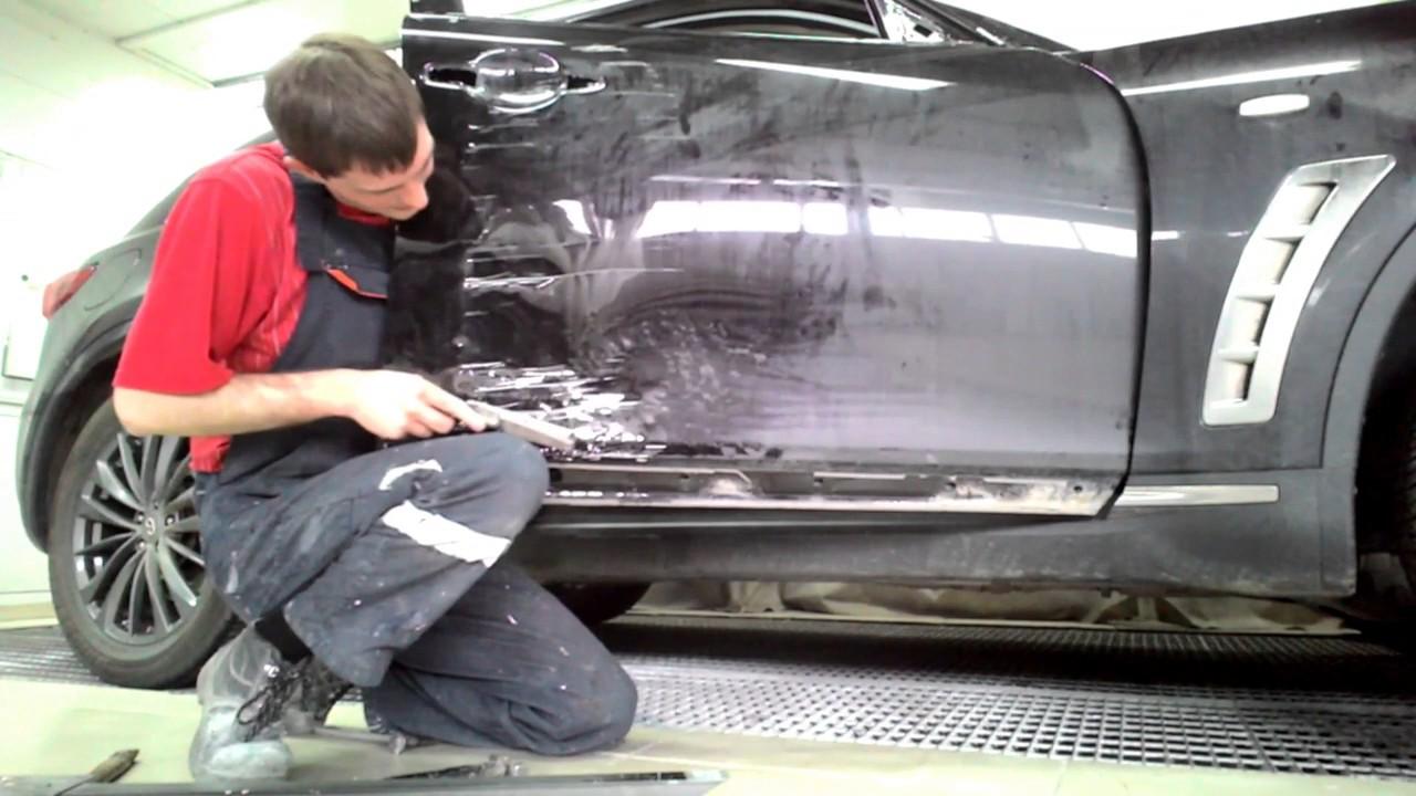 Автосервис. Кузовной ремонт — ремонт вмятины крыла.